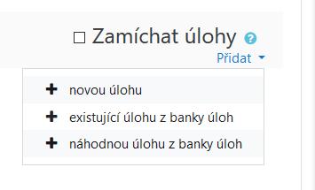 Přidat náhodnou úlohu z banky úloh