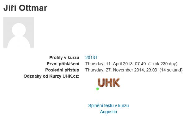 NBáhled na odznak v profilu uživatele