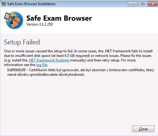 Možná chyba při instalaci Windows 7