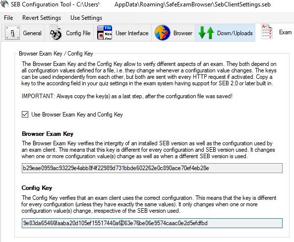 Konfigurace klíče v SEB Configuration Tool